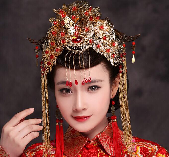 中式新娘妆图片