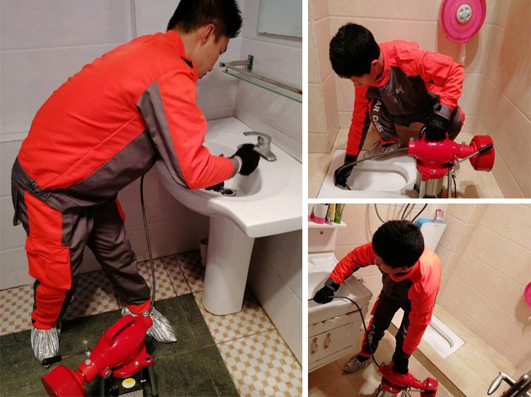 管道疏通 洗菜洗手蹲坑马桶做便器小便池地漏主管道脸盆机器疏通