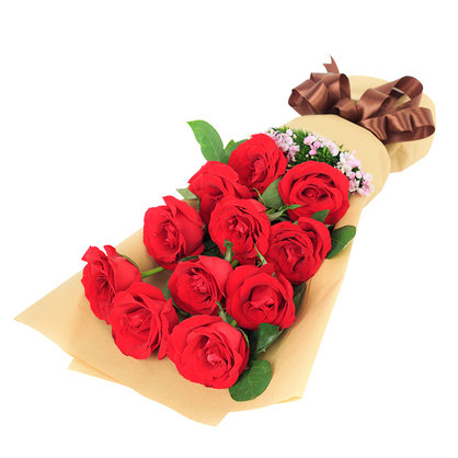 爱的彼岸 11朵红玫瑰花束