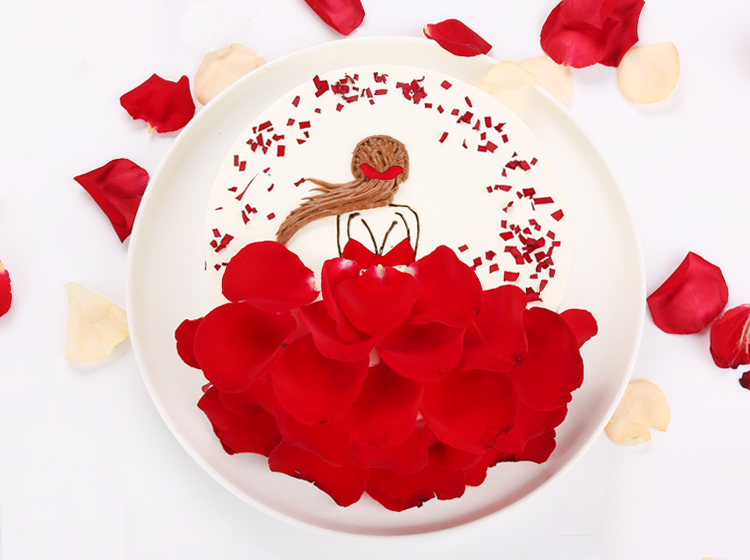 玫瑰公主蛋糕-8寸装