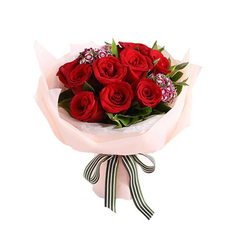 真爱-红玫瑰花花束生日鲜花速递鲜花店同城配送礼物送女友表白