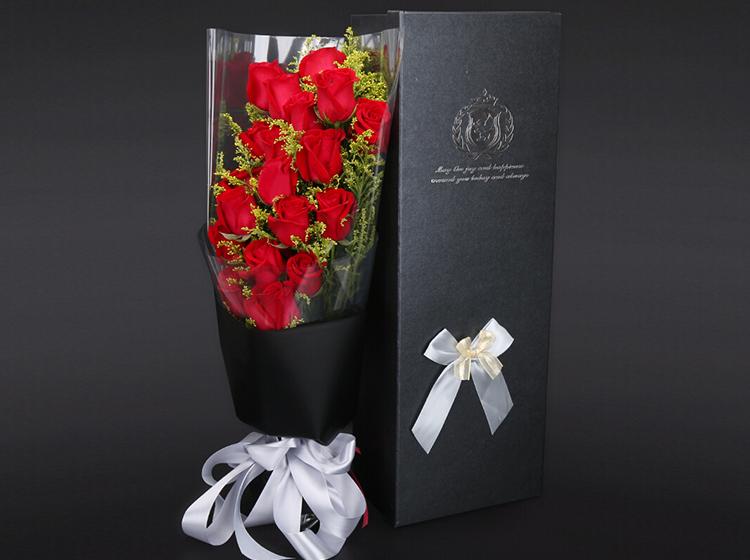 【最高的爱】19朵红玫瑰礼盒