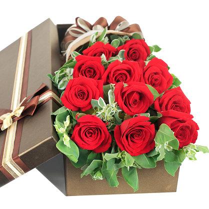 街角的幸福 11朵红玫瑰礼盒