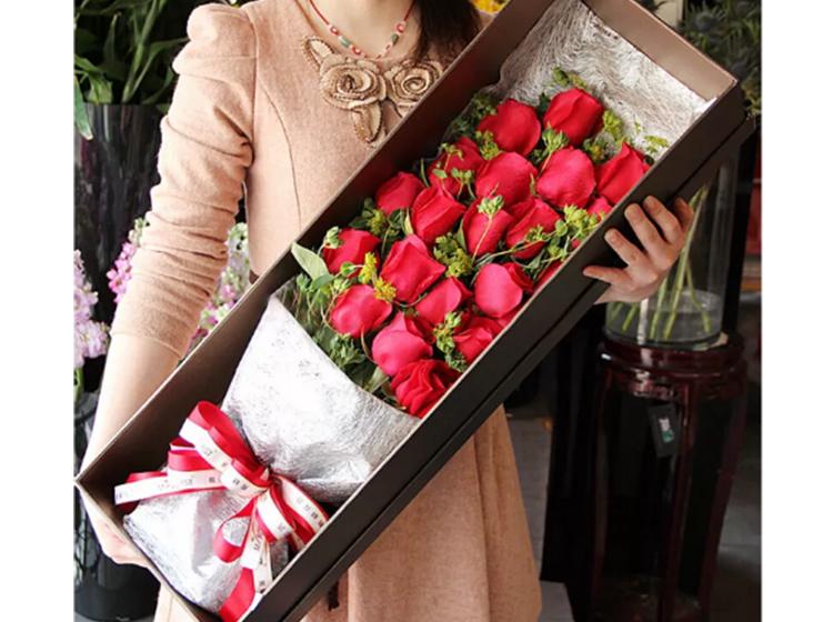 【爱你不变】21支红玫瑰礼盒
