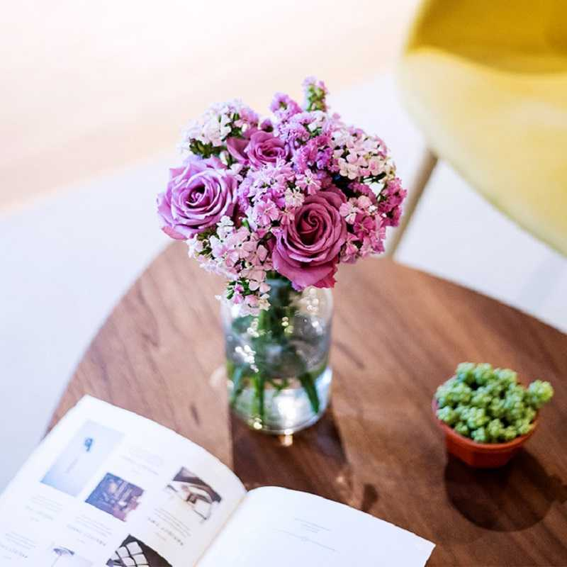 花点时间自然混合包月鲜花节日礼品花 新用户送花瓶